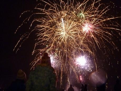昨年の「滝野スノーフェスティバル」の花火