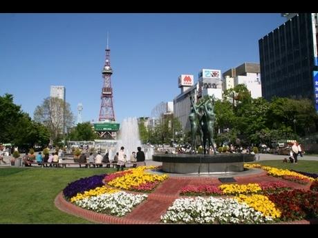 札幌の中心部「大通公園」