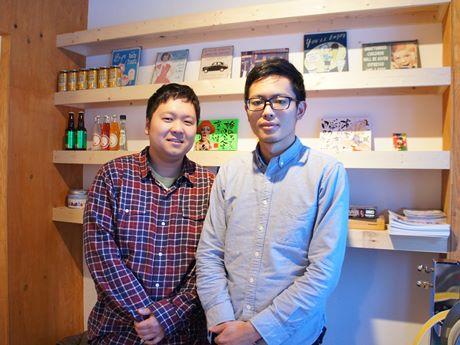 「Social Hostel 365」を運営する大畑さん(左)と佐々木さん(右)