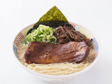 「博多だるま」の濃厚博多豚骨豚トロ肉盛りラーメン