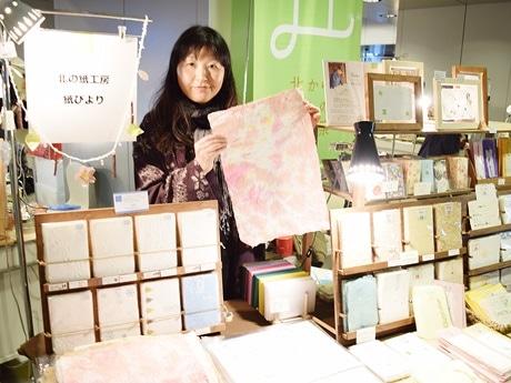春らしい和紙作品を展示販売する「北の紙工房 紙びより」