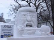 さっぽろ雪まつりもうすぐ閉幕 市民作・小雪像力作80基ずらり、人気投票も