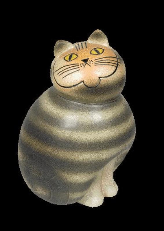 《ネコのミア(大きな動物シリーズ)》1990年(オリジナルは1966年) © Lisa Larson/Alvaro Campo