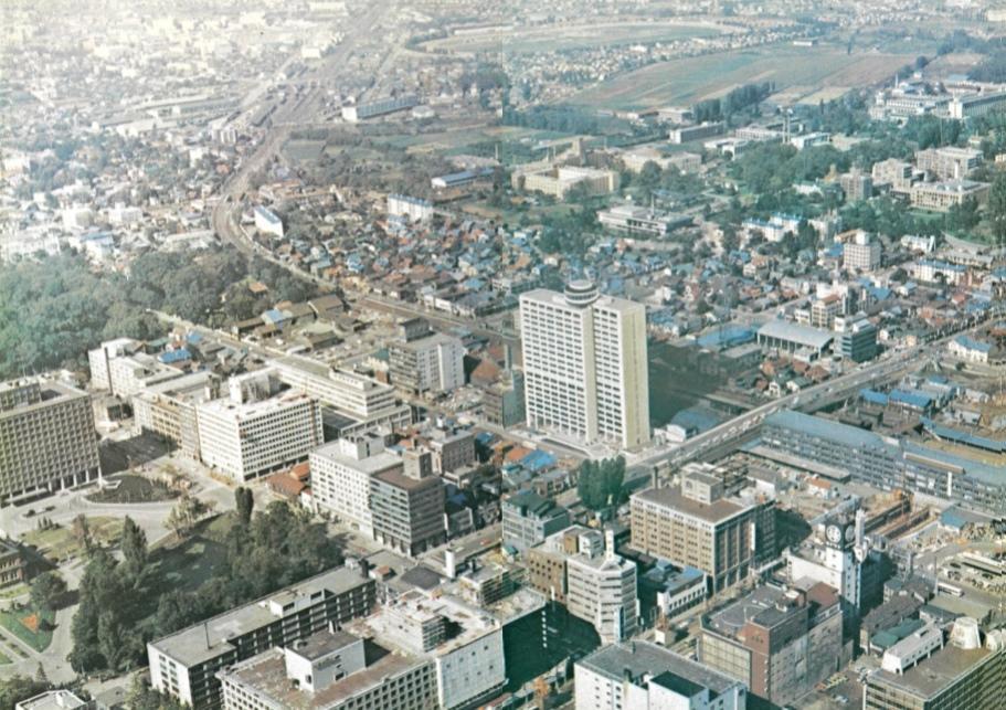 1973年のセンチュリーロイヤルホテル周辺
