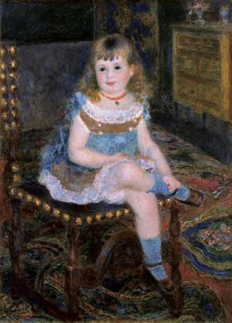 ピエール=オーギュスト・ルノワール《すわるジョルジェット・シャルパンティエ嬢》1876年 石橋財団ブリヂストン美術館蔵