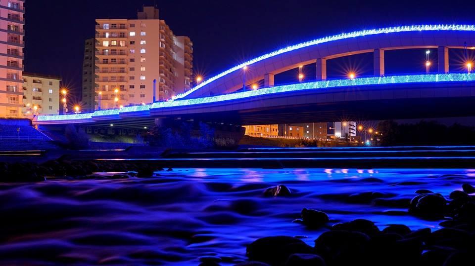 イルミネーションで彩られた幌平橋(昨年)