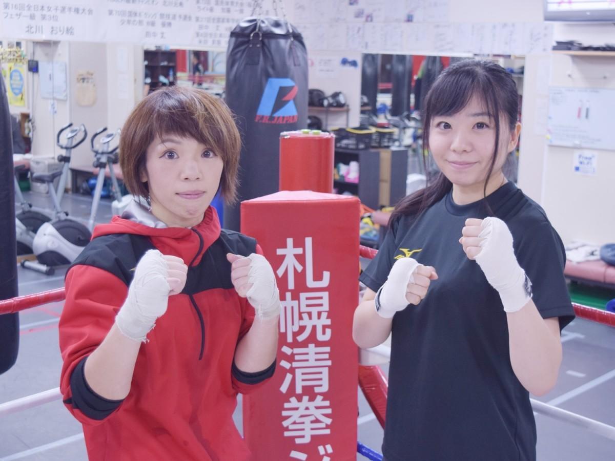 北川おり絵さん(左)と紺野佳苗さん(右)