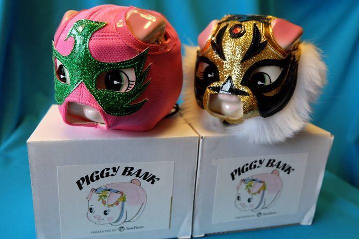 「Osanpos工房 デストロイ屋」の貯金箱マスク