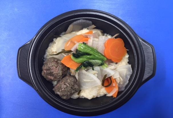 「鹿肉団子のチタタプ豆乳スープ」の商品イメージ