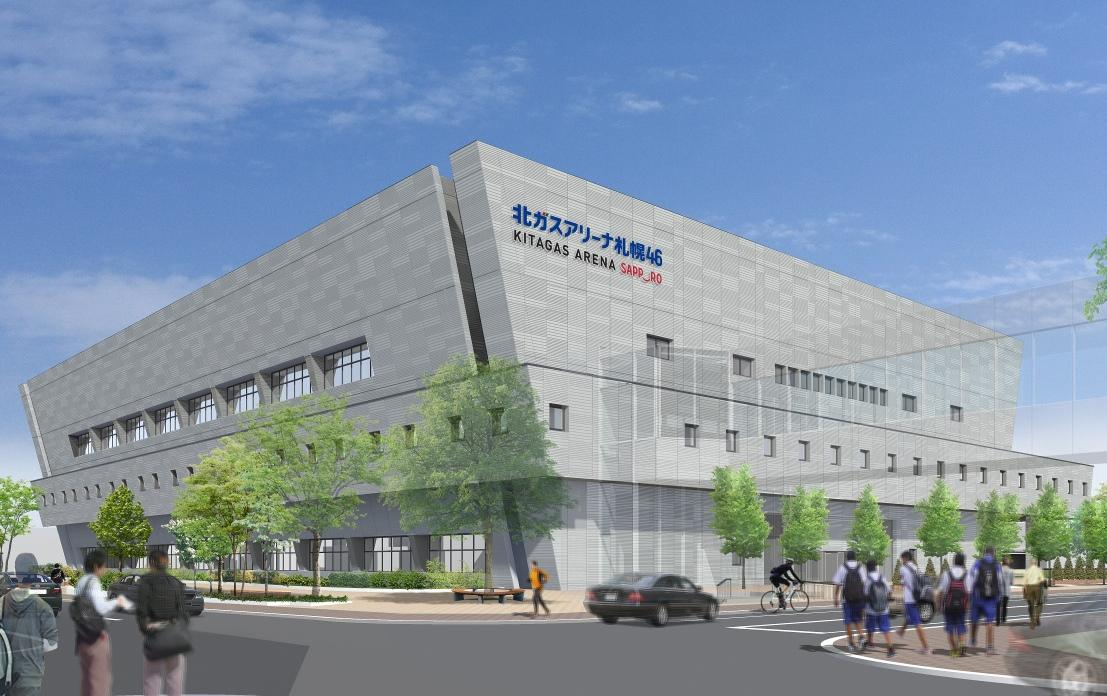 4月27日に開館する「札幌市中央体育館(北ガスアリーナ札幌46)」