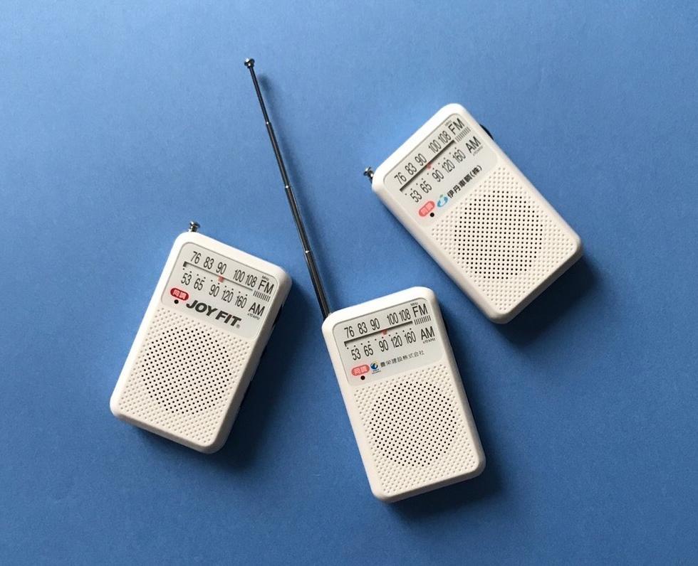 「ONE HOME ONE RADIO」プロジェクトで配布している電池式ラジオ