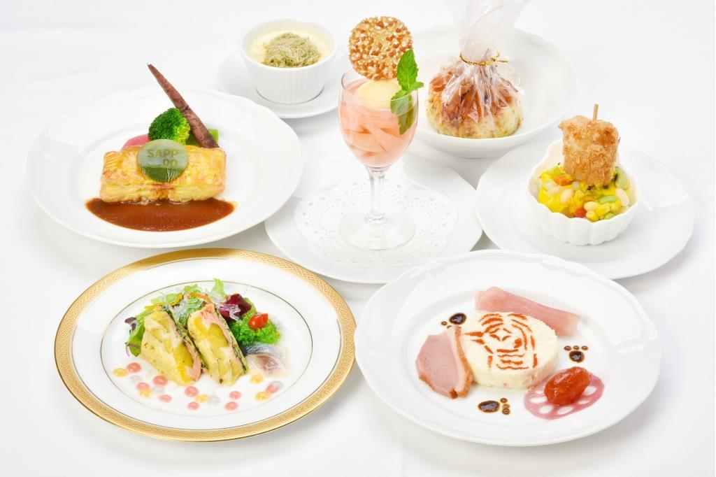 「新北海道スタイル」をテーマにした宴会料理のイメージ