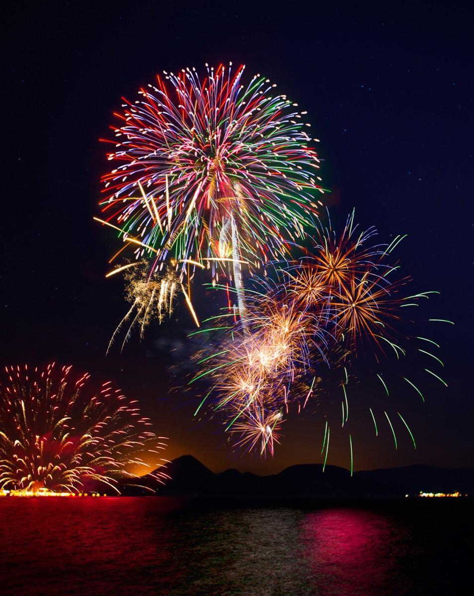 洞爺湖の花火大会のイメージ