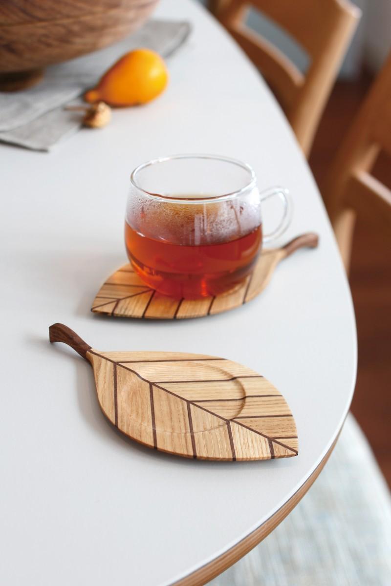 札幌スタイル認証製品 NPO法人札幌クローバー会「木の葉コースター」