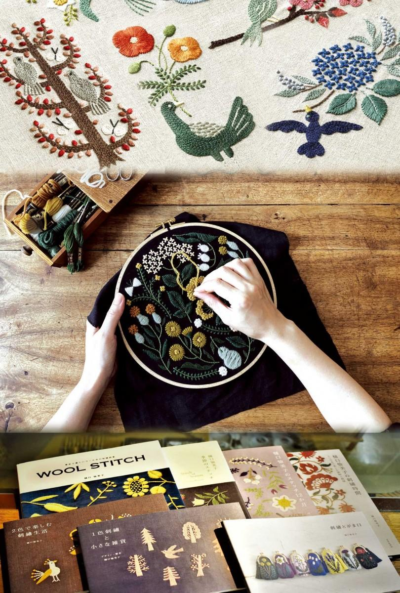 樋口愉美子さんの刺繍作品