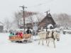 北海道開拓の村でクリスマス サンタの馬ソリ体験やクリスマス礼拝も