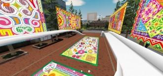 札幌市公認のバーチャル空間で「SAPPOROフラワーカーペット」 会場を忠実に再現