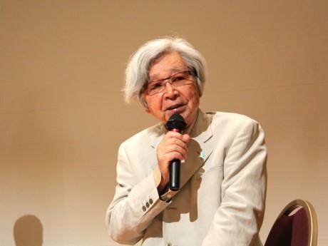 トークショーで映画について語る山田洋次監督