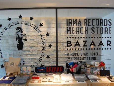 ポップアップストア「IRMA RECORDS MERCH STORE-BAZAAR-(イルマレコーズマーチストアバザール)」の店内