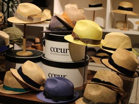 おしゃれな帽子が揃う「coeur(クール)」