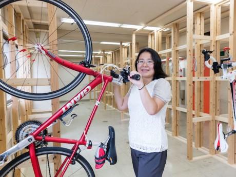 室内型駐輪場「ヴェロスタ」代表の大崎弘子さん