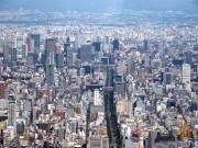 ヘリで空から物件案内 高度300メートル、大阪・本町の不動産会社