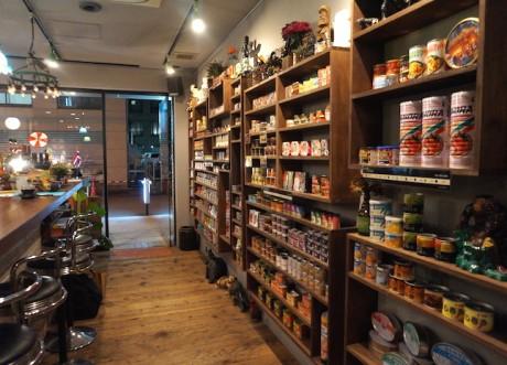 大阪本町の缶詰バー「mr.kanso hommachi446店」店内の様子