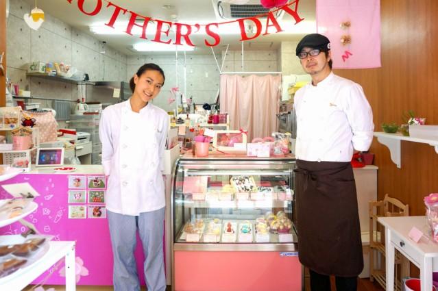 北浜の洋菓子店「iRene」を経営する塚田夫婦
