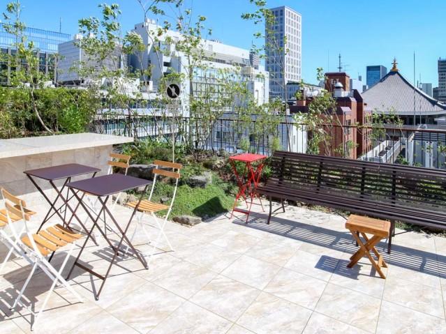 大阪本町のオフィスビル屋上に「おおきに公園」 飲食持ち込みにも対応