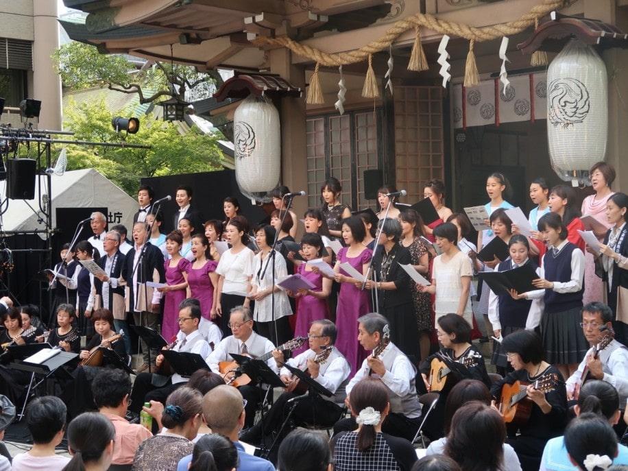 昨年度開催時の様子(写真提供=坐摩神社)