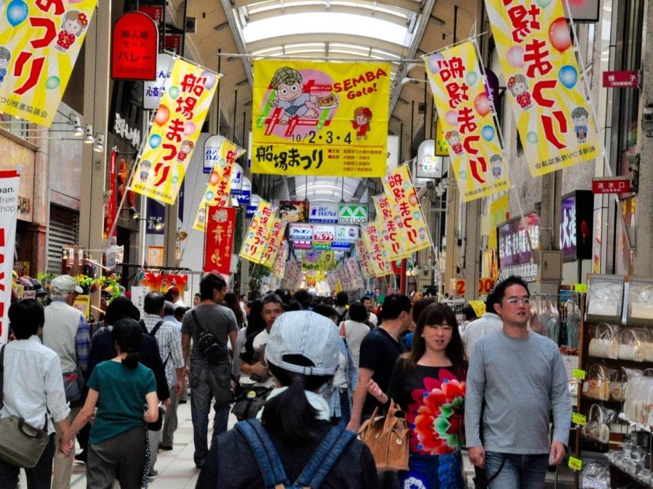 昨年の商店街セールの様子(写真提供=産経新聞社 大阪事業部)