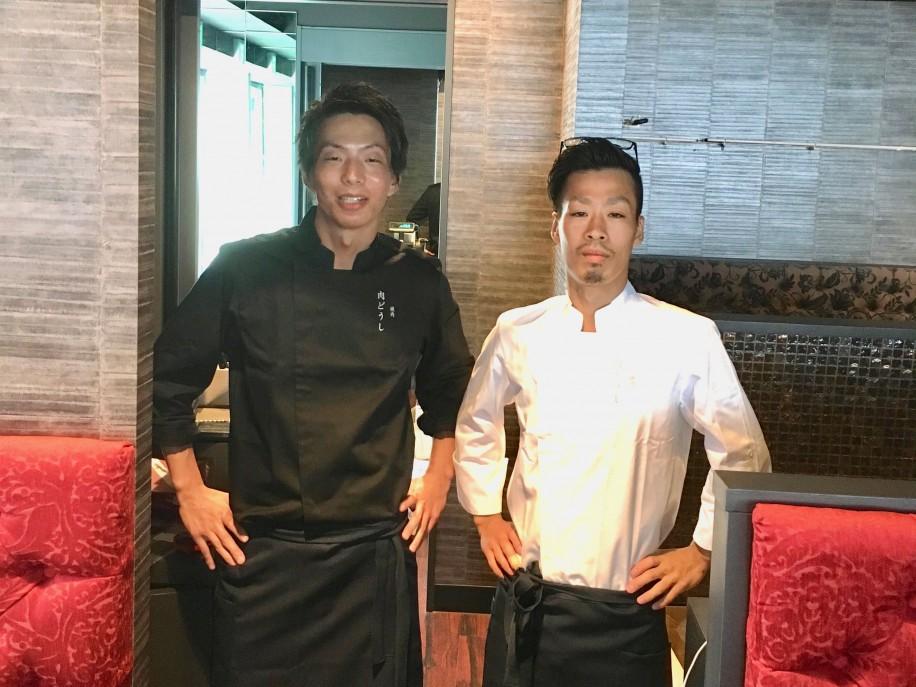 店長の橋本祥平さんと料理長の戎谷(えびすたに)豊さん