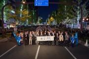 大阪・御堂筋のイルミネーション点灯 式典にドリカム・中村正人さんら