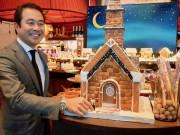セントレジス大阪でXマスデザートビュッフェ お菓子の家などで装飾
