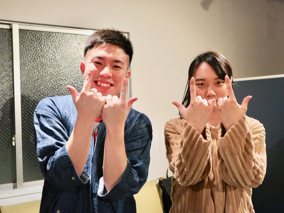 ゲストの藤原麻里菜さん(右)と稲田ズイキさん