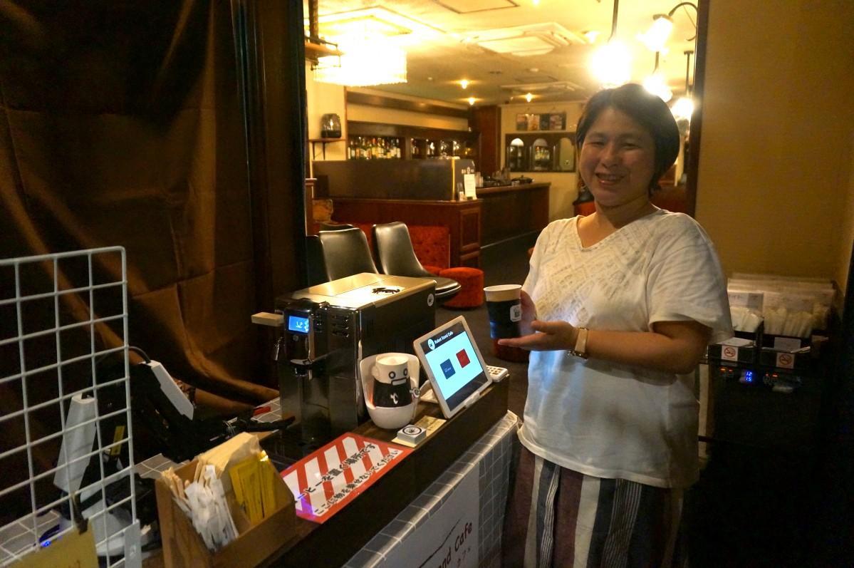 「ロボットスタンドカフェ」開発者の林芳枝さん