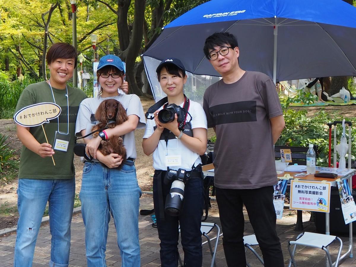 右から塩内一平さん、カメラマンの三好沙季さん、サイト主催の田合恵子さん、宮田恵さん