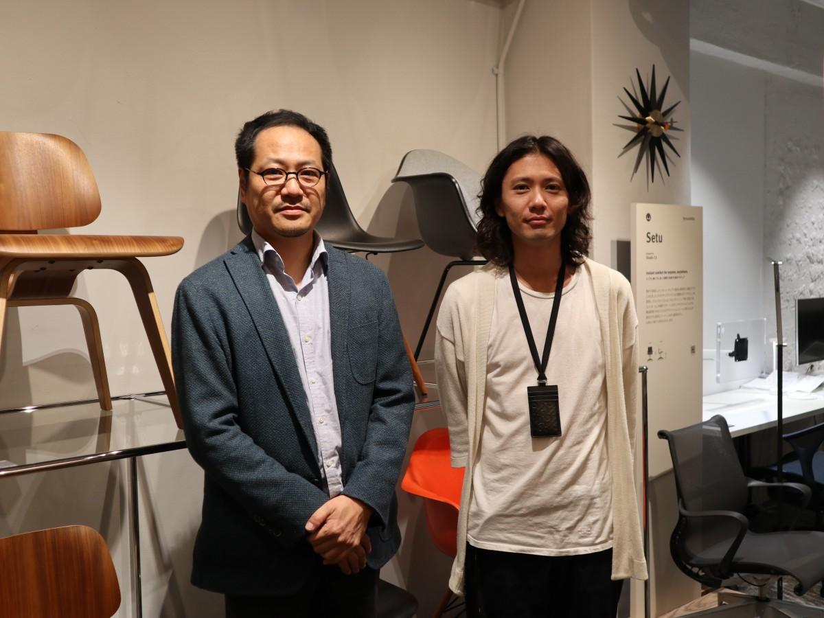 社長の山根浩二さん(左)