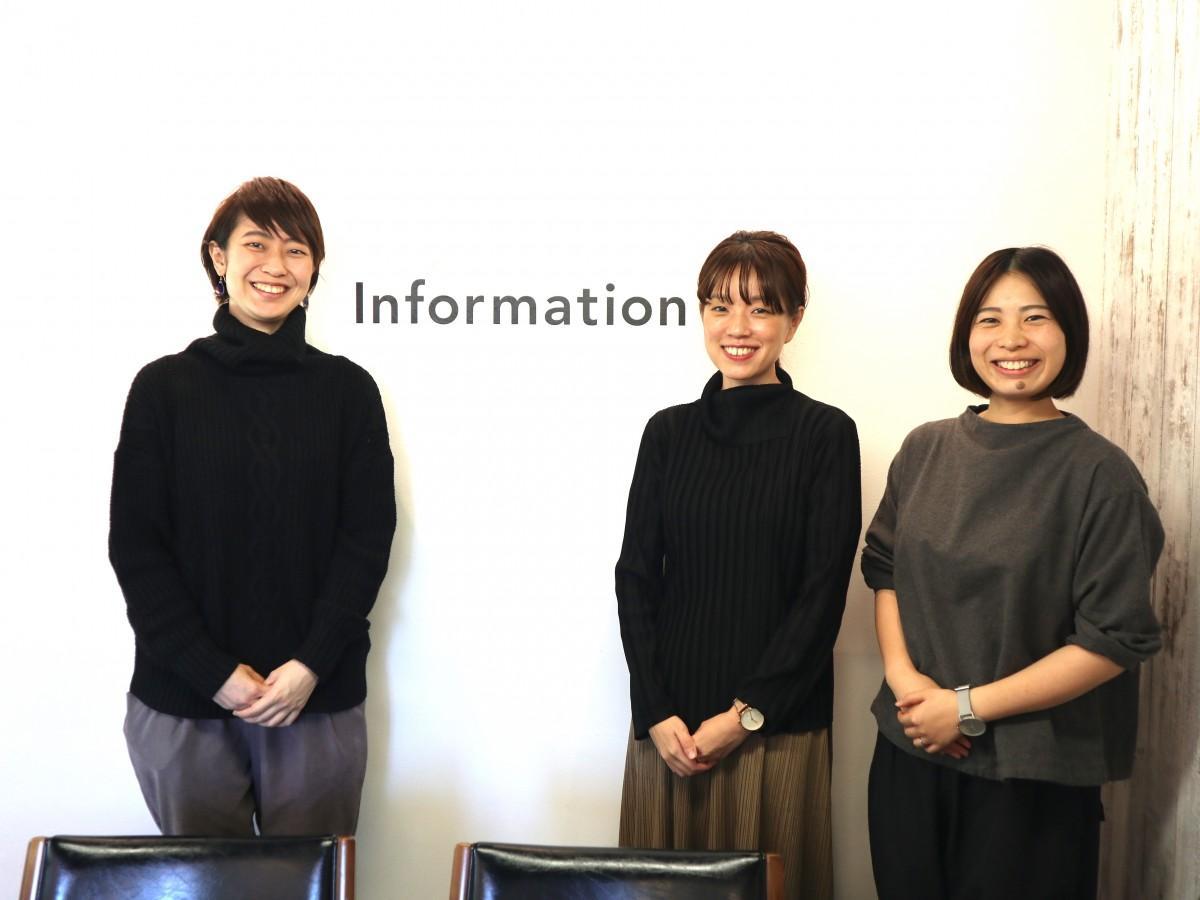 担当者の田川さん(中央)