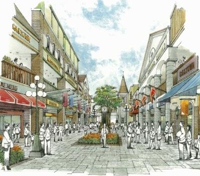 来秋オープンする「仙台港アウトレットパーク」(仮称)のイメージ