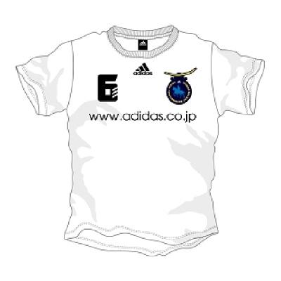 「アディダス パフォーマンスセンター仙台」オープン記念に100着限定で販売されるフットボールTシャツのイメージ