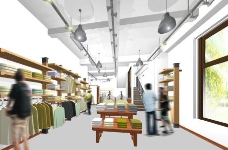 5月下旬にオープンする「パタゴニア仙台」店内イメージ