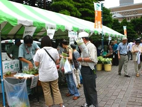 勾当台公園で行われた「仙台枝豆まつり」の様子