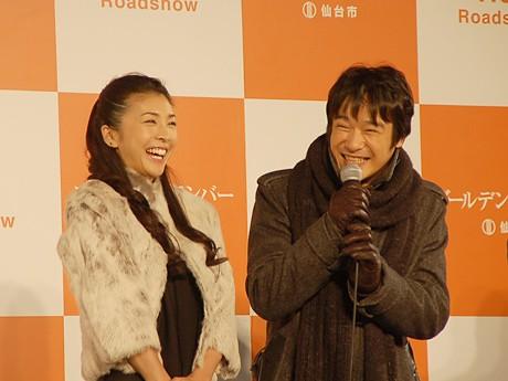 「ゴールデンスランバー」公開記念イベントで仙台に凱旋した堺雅人さんと竹内結子さん