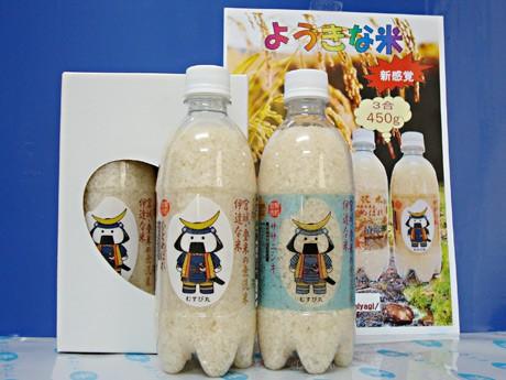 宮城・登米産のペットボトル入り無洗米-「むすび丸」ラベルで人気に