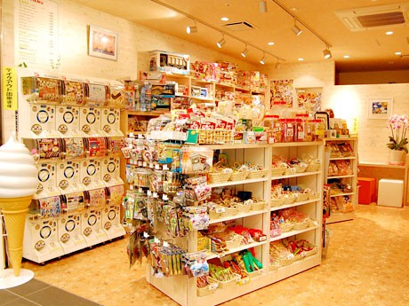 TIC内に移転オープンした「さかえや」店内。70歳の宍戸洋子さんが1人で切り盛りする