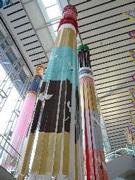 仙台空港に設置された七夕飾り(過去の展示より)