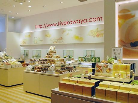 「清川屋 仙台PARCO店」店内。施設を利用する女性客をメーンに、ビジネスマンや観光客など幅広い層をターゲットに据える