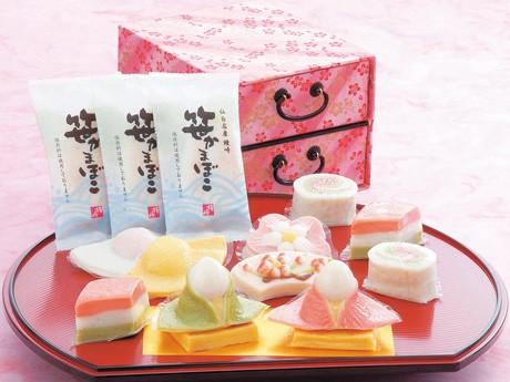 鐘崎のひな祭り期間限定商品「夢小箱」。販売開始から今年で27年目を迎える