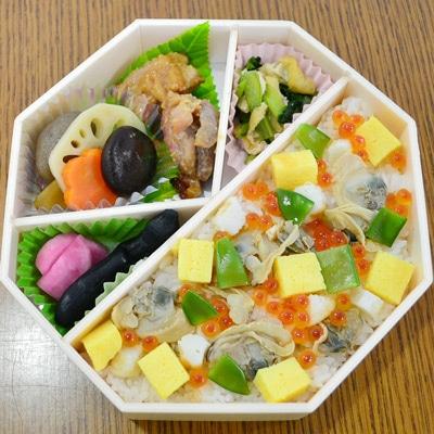 3月25日に仙台空港で販売する限定空弁「ありがとうの復興弁当『小玉貝の浜ちらし』」